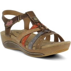 Spring Step Womens L'Artiste Cloe Wedge Sandals