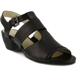 Spring Step Womens Charisse Leather T-Strap Sandals