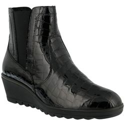 Spring Step Womens Flexus Alejija Croco Booties
