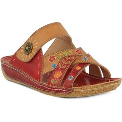 Spring Step Womens L'Artiste Leigh Slide On Wedges