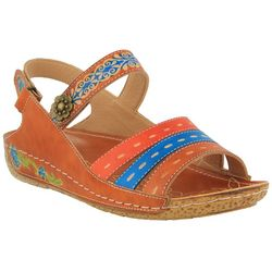 Spring Step Womens L'Artiste Kerry Wedge Sandals