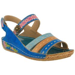 ce039d19d890 Spring Step Womens L Artiste Kerry Wedge Sandals