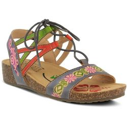 Spring Step Womens L'Artiste Loma Tie Sandals