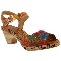 Spring Step Womens L'Artiste Zalma Floral Sandals