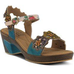 Spring Step Womens L'Artiste Pinkie Floral Sandals