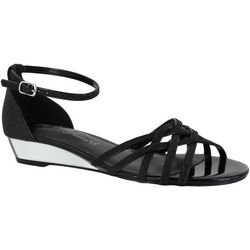 Easy Street Womens Tarrah Glitter Dress Sandals
