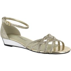 Easy Street Womens Tarrah Glitter Dress Sandals