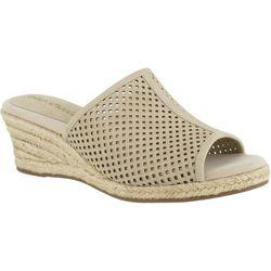 Easy Street Womens Mandy Espadrille Slide Sandals