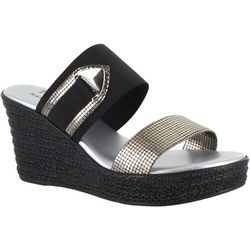 Easy Street Womens Marisole Wedge Sandals