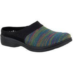 Easy Street Womens Cozy Stripe Mules