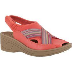 Easy Street Womens Delight Multi Stripe Sandals