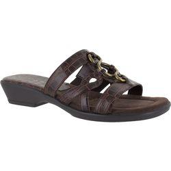 Easy Street Womens Torrid Croco Slide Sandals