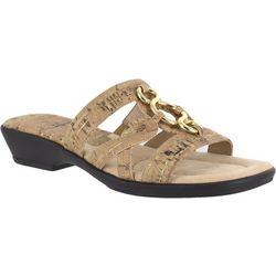 Easy Street Womens Torrid Cork Slide Sandals