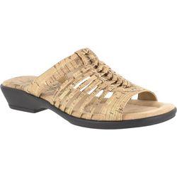 Easy Street Womens Nola Cork Slide Sandals