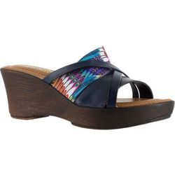 Easy Street Womens Tuscany Lucette Wedge Sandals