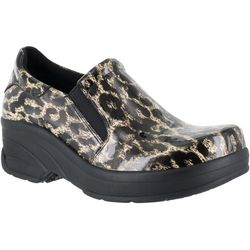 Easy Street Works Womens Appreciate Leopard Work Shoes