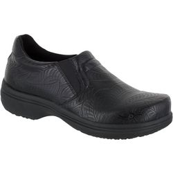 Easy Street Works Womens Bind Embossed Slip On Work Shoes