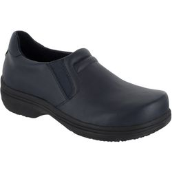 Easy Street Works Womens Bind Slip On Work Shoes