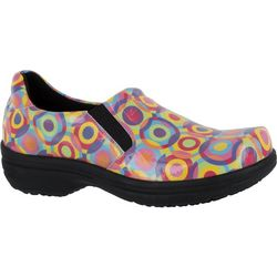 Easy Street Works Womens Bind Bright Slip On Work Shoes