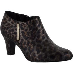 Easy Street Womans Zandra Leopard Booties