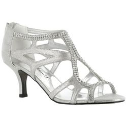 Easy Street Womens Flattery Jeweled Dress Sandals