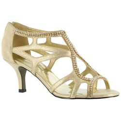 Easy Street Womens Flattery Jeweled Dress Sandals