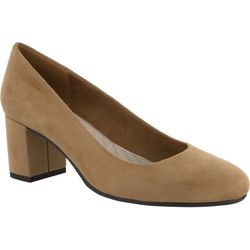 Easy Street Womens Proper Suede Pumps