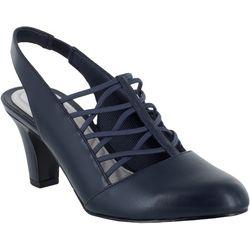 Easy Street Womens Berry Slingback Heels
