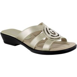 Easy Street Womens Thrive Ornament Slide Sandals