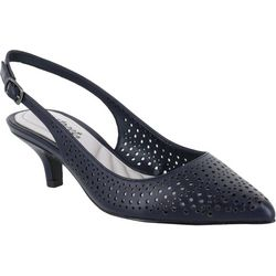Easy Street Womens Enchant Slingback Kitten Heels