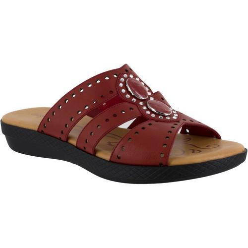 09b94f294f4 Easy Street Womens Vara Jeweled Sandals