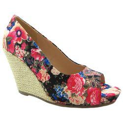 Womens Joanne Peep Toe Wedge Shoes