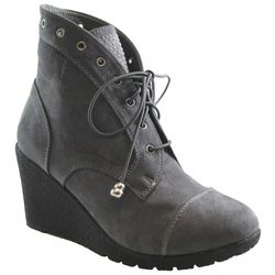 Beacon Womens Tessa Wedge lace Up Bootie
