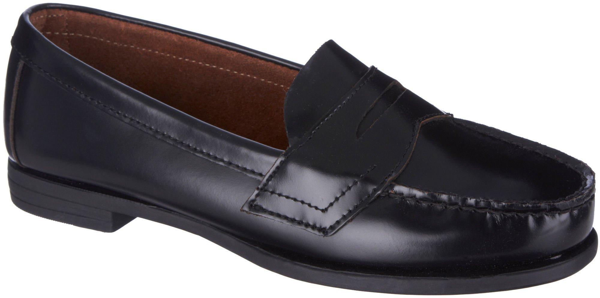 Eastland Classic II Women/'s Leather Black /& Navy Penny Loafers