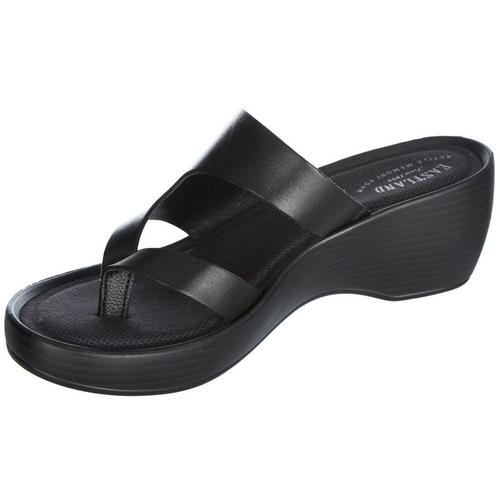 13b0171784a4 Eastland Womens Laurel Wedge Thong Sandals