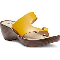 Eastland Womens Laurel Wedge Thong Sandals