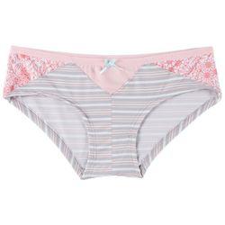 Wurl Juniors Colorblock Stripe Hipster Panties 1168P