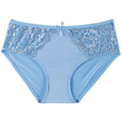 Wurl Juniors Lace Accent Microfiber Hipster Panties 1351P