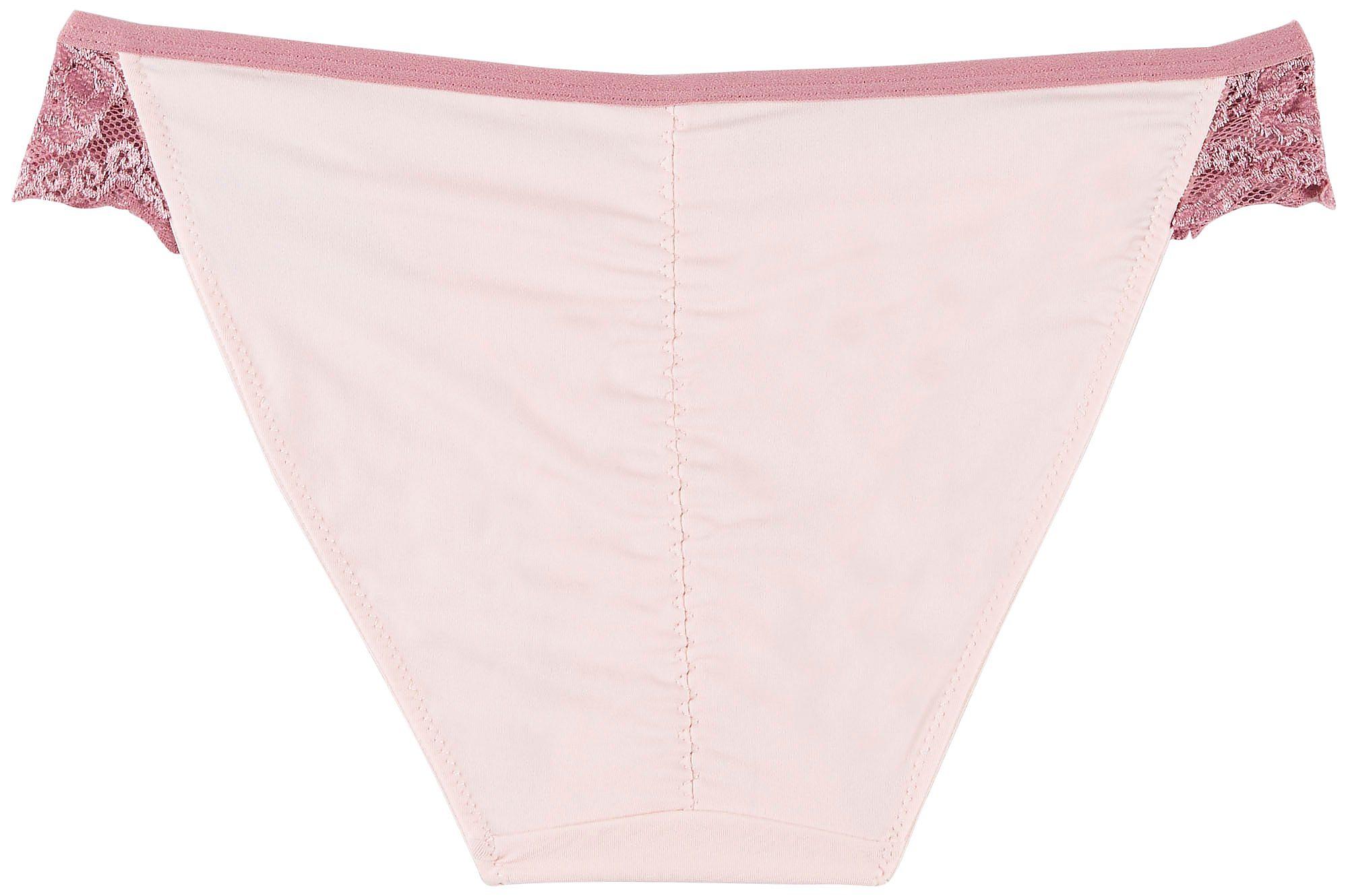 Wurl Juniors Lace Trim Ruched Back Bikini Panties 1255P