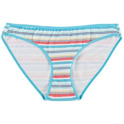 Wurl Juniors Printed Cotton Span Bikini Panties BE16206A