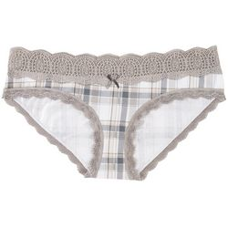 Wurl Juniors No Time Plaid Hipster Panties BE156658