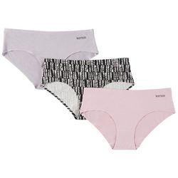 Kensie Juniors 3 Pack Laser Cut Hipster Panties 3PKHP545