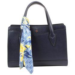 London Fog Lucy Navy Blue Satchel Handbag