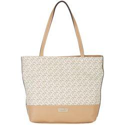 Jones New York Tabitha Logo Print Tote Handbag