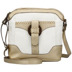B.O.C. Clayton White & Gold Tone Crossbody Handbag