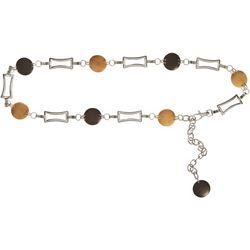 Bay Studio Womens Links & Discs Chain Belt