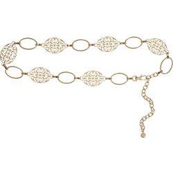 Bay Studio Womens Filigree Oval Links Chain Belt