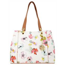 Bueno Floral Print Double Handle Tote Handbag