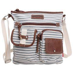 Unionbay Striped Crossbody Handbag