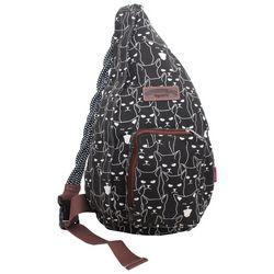 Unionbay Cat Outline Sling Backpack 6c77c3b4c9980